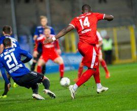 Arnold Budimbu vom TSV Steinbach im Spiel gegen den SV Waldhof Mannheim
