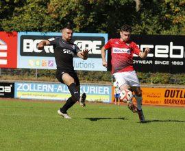 David Haider Kamm Al-Azzawe vom TSV Steinbach Haiger im Hinspiel bei der TSG Balingen