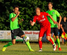 Sören Eismann vom TSV Steinbach Haiger im Spiel gegen Eintracht Stadtallendorf