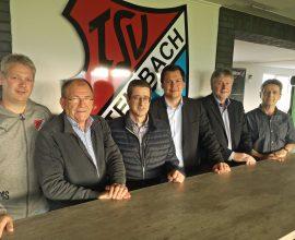 Vorstand des TSV Steinbach mit Arne Wohlfarth