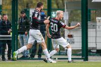 Lukas Foelsch jubelt über das 0:1. Bild Nick Fingerhut
