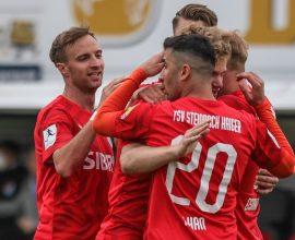 Torjubel TSV Steinbach Haiger VfB Stuttgart U21 Nick Fingerhut